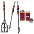 Virginia Tech Hokies 2pc BBQ Set with Tailgate Salt & Pepper Shakers