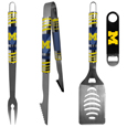 Michigan Wolverines 3 pc BBQ Set and Bottle Opener