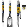 W. Virginia Mountaineers 3 pc BBQ Set and Chip Clip