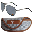 Texas Longhorns Aviator Sunglasses and Sports Case