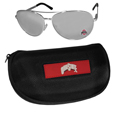 Ohio St. Buckeyes Aviator Sunglasses and Zippered Carrying Case