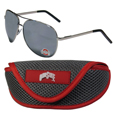 Ohio St. Buckeyes Aviator Sunglasses and Sports Case