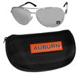 Auburn Tigers Aviator Sunglasses and Zippered Carrying Case