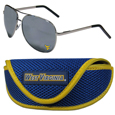 W. Virginia Mountaineers Aviator Sunglasses and Sports Case