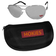 Virginia Tech Hokies Aviator Sunglasses and Zippered Carrying Case