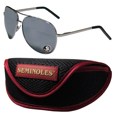 Florida St. Seminoles Aviator Sunglasses and Sports Case