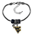 W. Virginia Mountaineers Euro Bead Bracelet