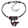 Virginia Tech Hokies Euro Bead Bracelet