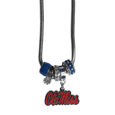 Mississippi Rebels Euro Bead Necklace