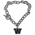 Washington Huskies Charm Chain Bracelet
