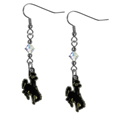 Wyoming Cowboy Crystal Dangle Earrings