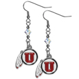 Utah Utes Crystal Dangle Earrings