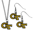 Georgia Tech Yellow Jackets Dangle Earrings and Chain Necklace Set