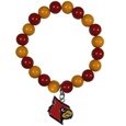Louisville Cardinals Fan Bead Bracelet