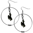 Wyoming Cowboy 2 Inch Hoop Earrings