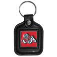 Fresno St. Bulldogs Square Leatherette Key Chain