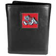 Fresno St. Bulldogs Deluxe Leather Tri-fold Wallet Packaged in Gift Box