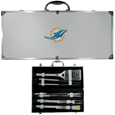 Miami Dolphins 8 pc Stainless Steel BBQ Set w/Metal Case