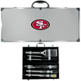 San Francisco 49ers 8 pc Stainless Steel BBQ Set w/Metal Case