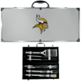 Minnesota Vikings 8 pc Stainless Steel BBQ Set w/Metal Case