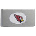 Arizona Cardinals Brushed Metal Money Clip