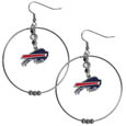 Buffalo Bills 2 Inch Hoop Earrings