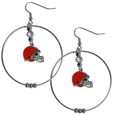 Cleveland Browns 2 Inch Hoop Earrings