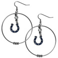 Indianapolis Colts 2 Inch Hoop Earrings