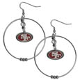San Francisco 49ers 2 Inch Hoop Earrings