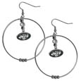 New York Jets 2 Inch Hoop Earrings