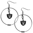 Oakland Raiders 2 Inch Hoop Earrings