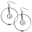 Pittsburgh Steelers 2 Inch Hoop Earrings