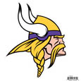 Minnesota Vikings 8 inch Logo Magnets