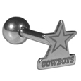 Dallas Cowboys Barbell Tongue Ring