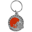 Cleveland Browns Carved Metal Key Chain