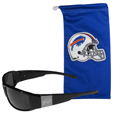 Buffalo Bills Etched Chrome Wrap Sunglasses and Bag