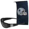 Dallas Cowboys Etched Chrome Wrap Sunglasses and Bag