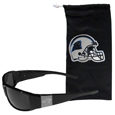 Carolina Panthers Etched Chrome Wrap Sunglasses and Bag
