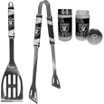 Oakland Raiders 2pc BBQ Set with Tailgate Salt & Pepper Shakers