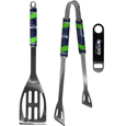 Seattle Seahawks 2 pc BBQ Set and Bottle Opener