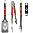 Kansas City Chiefs 3 pc BBQ Set and Bottle Opener