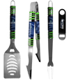 Seattle Seahawks 3 pc BBQ Set and Bottle Opener