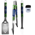 Seattle Seahawks 3 pc BBQ Set and Chip Clip