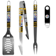 Pittsburgh Steelers 3 pc BBQ Set and Bottle Opener