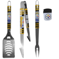 Pittsburgh Steelers 3 pc BBQ Set and Chip Clip