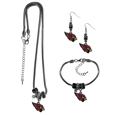 Arizona Cardinals Euro Bead Jewelry 3 piece Set