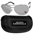 Arizona Cardinals Aviator Sunglasses and Zippered Carrying Case