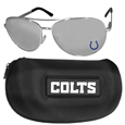 Indianapolis Colts Aviator Sunglasses and Zippered Carrying Case