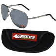 San Francisco 49ers Aviator Sunglasses and Sports Case