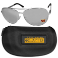 Washington Redskins Aviator Sunglasses and Zippered Carrying Case